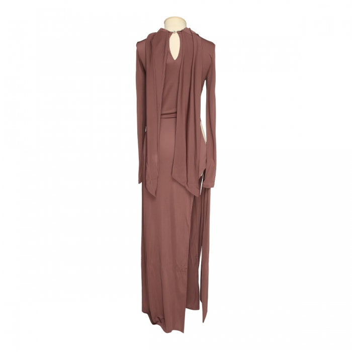 THE ATTICO Camille brown knotted dress 202WCA15 - J003 - 064 3
