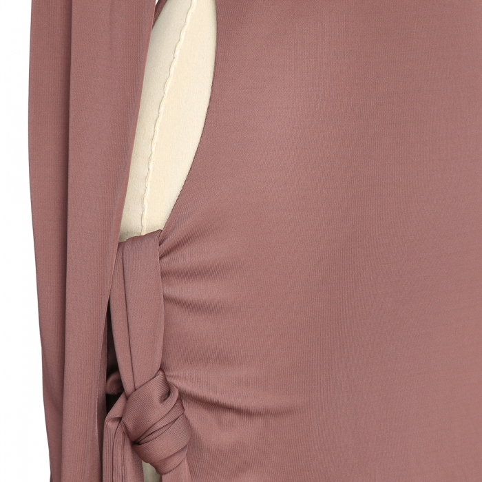 THE ATTICO Camille brown knotted dress 202WCA15 - J003 - 064 5