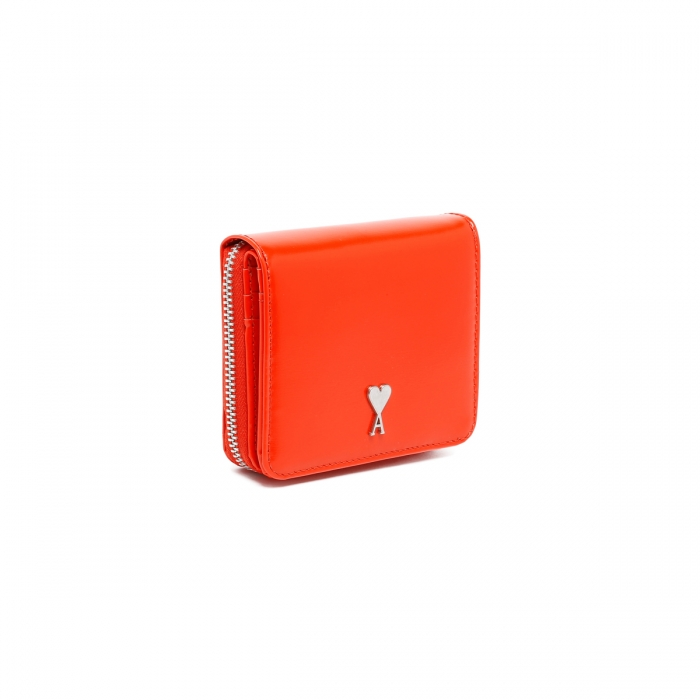 AMI PARIS Red Patent Leather Wallet A21A001.833 3