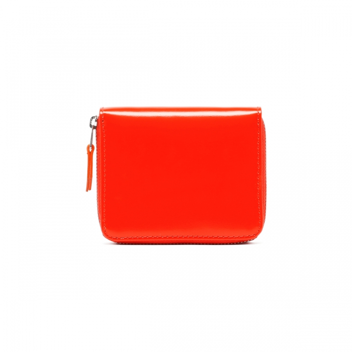 AMI PARIS Red Patent Leather Wallet A21A001.833 4