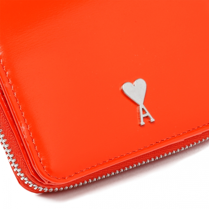 AMI PARIS Red Patent Leather Wallet A21A001.833 5