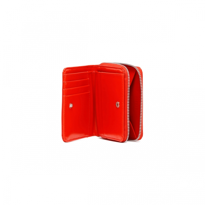 AMI PARIS Red Patent Leather Wallet A21A001.833 6
