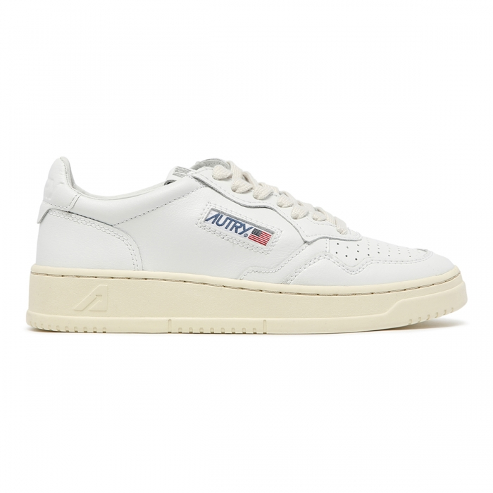 AUTRY White Leather Low-Top Skeakers AULW 2