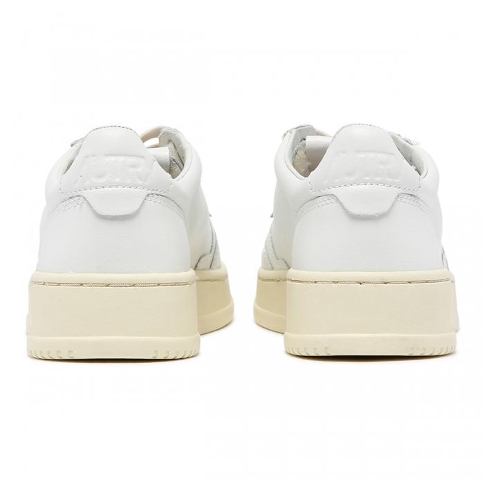 AUTRY White Leather Low-Top Skeakers AULW 5