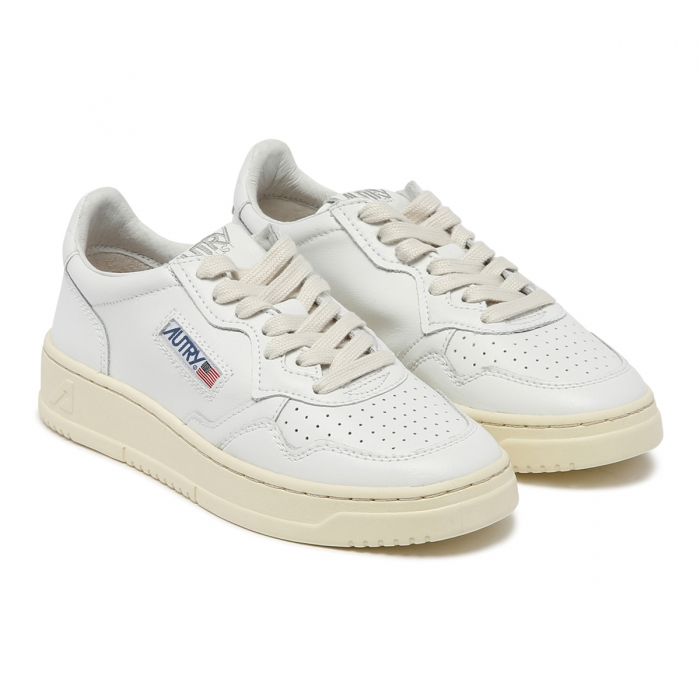 AUTRY White Leather Low-Top Skeakers AULW 6