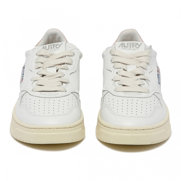 AUTRY White Leather Low-Top Skeakers AULW 3