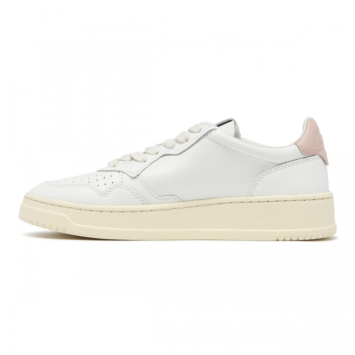 AUTRY White Leather Low-Top Skeakers AULW 4