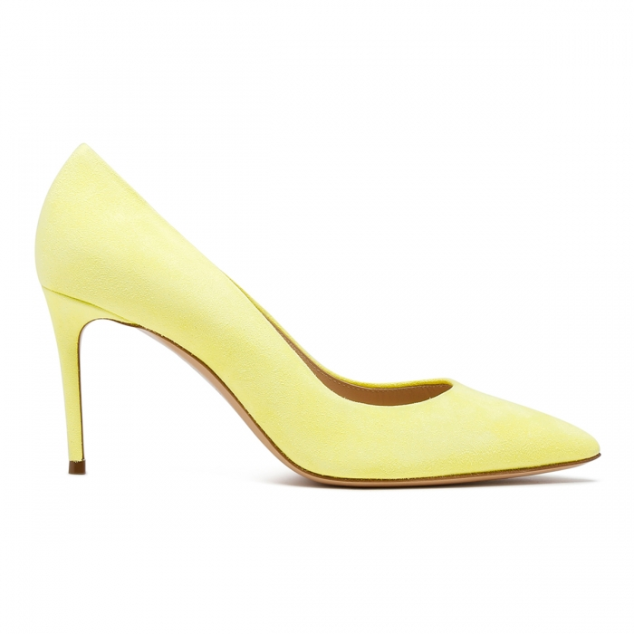 CASADEI Yellow Leather Julia Pumps 1F120D0801CAMOS 2