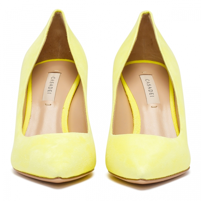 CASADEI Yellow Leather Julia Pumps 1F120D0801CAMOS 3