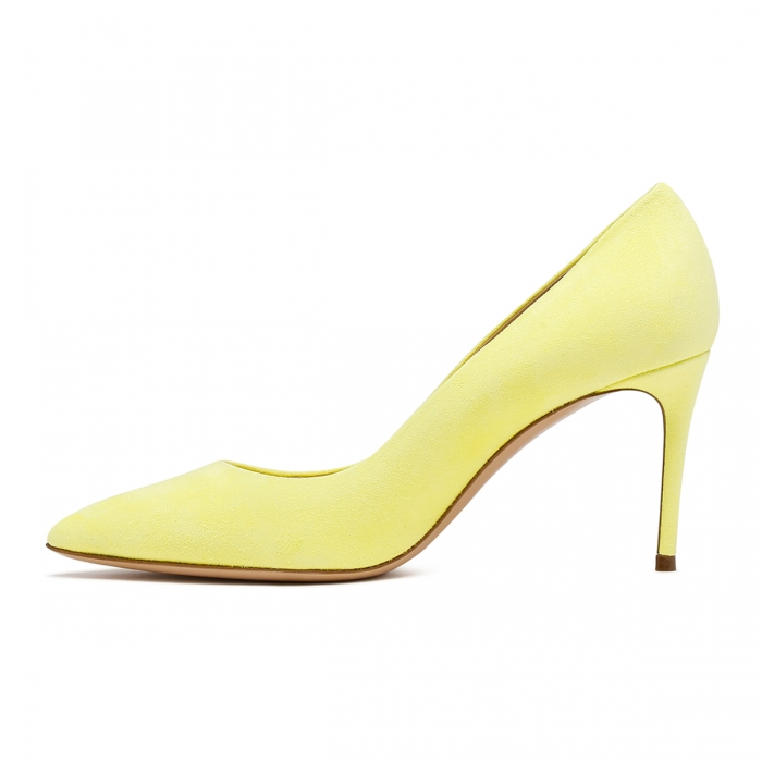 CASADEI Yellow Leather Julia Pumps 1F120D0801CAMOS 4