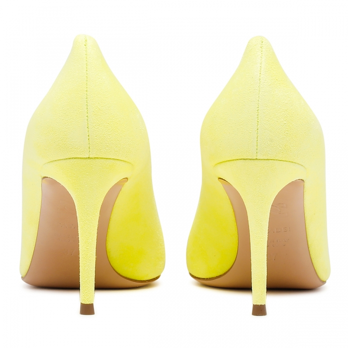 CASADEI Yellow Leather Julia Pumps 1F120D0801CAMOS 5