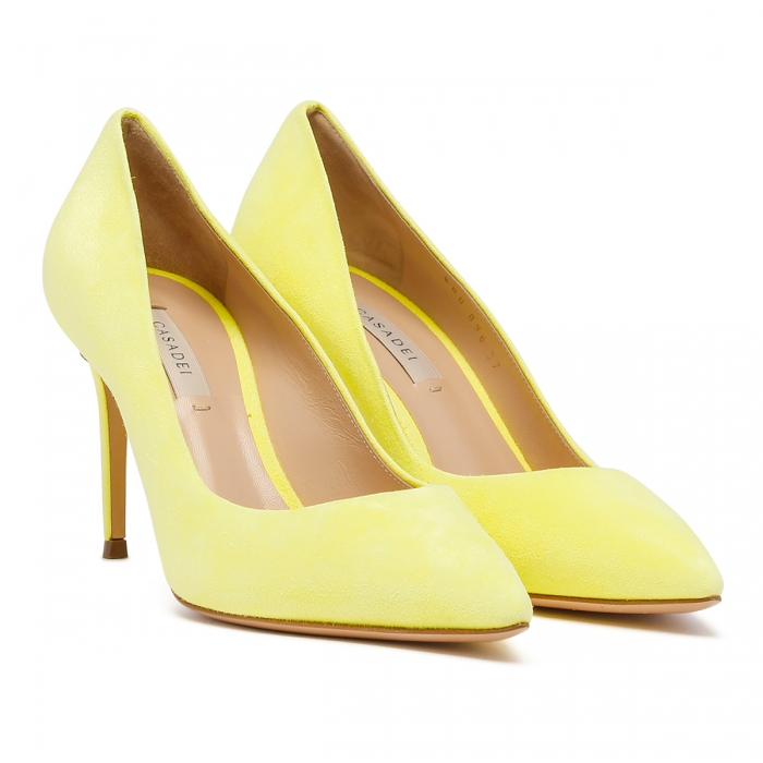CASADEI Yellow Leather Julia Pumps 1F120D0801CAMOS 6