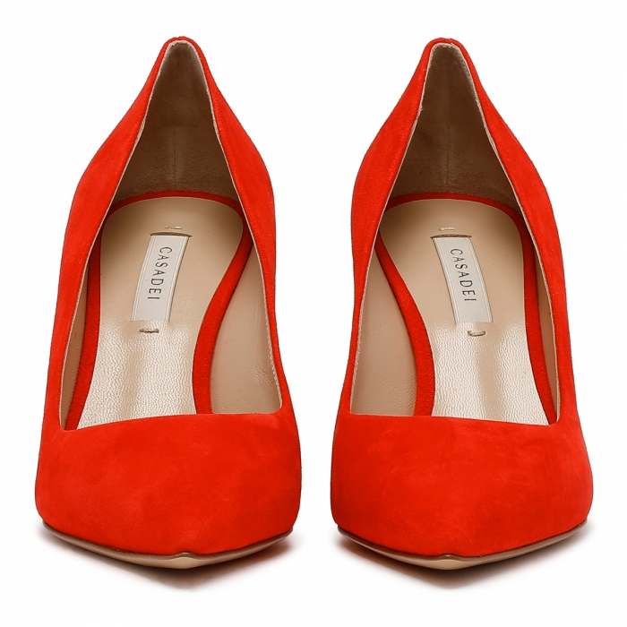 CASADEI Cyber Red Leather Julia Pumps 1F120D0801CAMOS 3