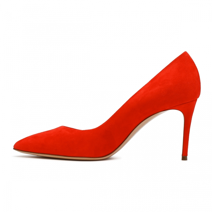 CASADEI Cyber Red Leather Julia Pumps 1F120D0801CAMOS 4