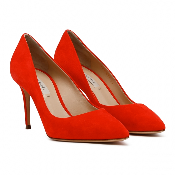 CASADEI Cyber Red Leather Julia Pumps 1F120D0801CAMOS 6
