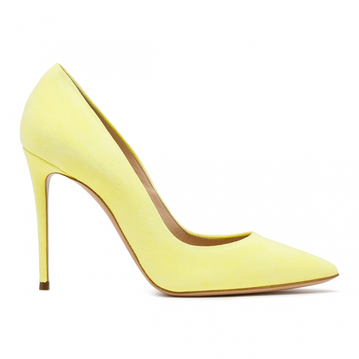 CASADEI Yellow Leather Julia Pumps 1F121D1001CAMOS 2