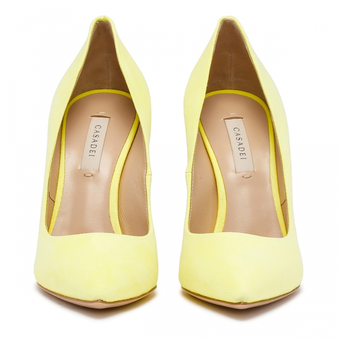 CASADEI Yellow Leather Julia Pumps 1F121D1001CAMOS 3