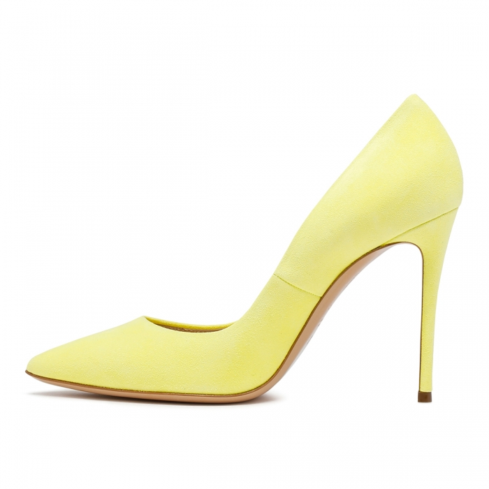 CASADEI Yellow Leather Julia Pumps 1F121D1001CAMOS 4