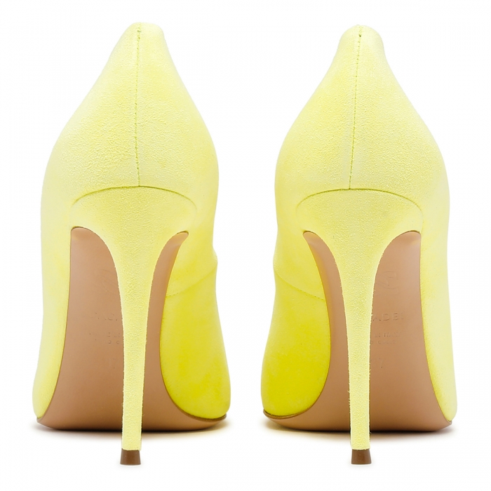 CASADEI Yellow Leather Julia Pumps 1F121D1001CAMOS 5