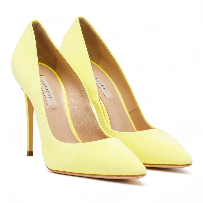 CASADEI Yellow Leather Julia Pumps 1F121D1001CAMOS 6