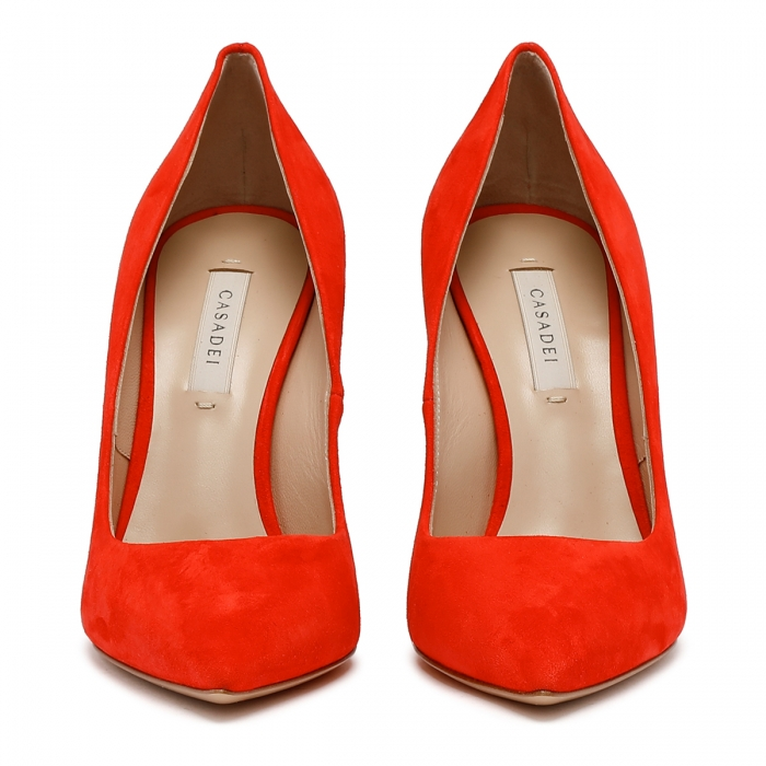 CASADEI Red Leather Julia Pumps 1F121D1001CAMOS 3