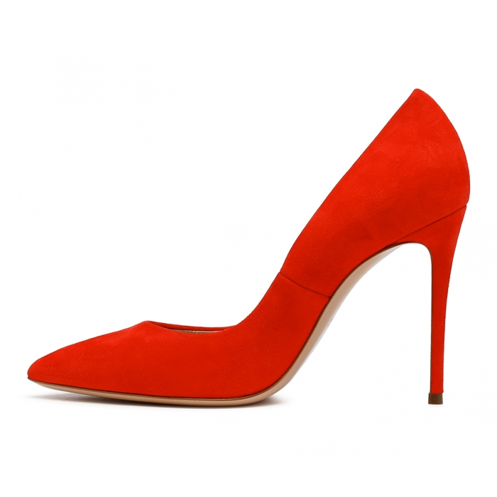 CASADEI Red Leather Julia Pumps 1F121D1001CAMOS 4