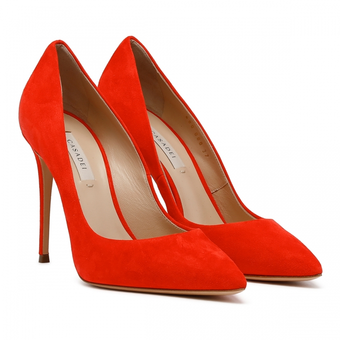 CASADEI Red Leather Julia Pumps 1F121D1001CAMOS 6