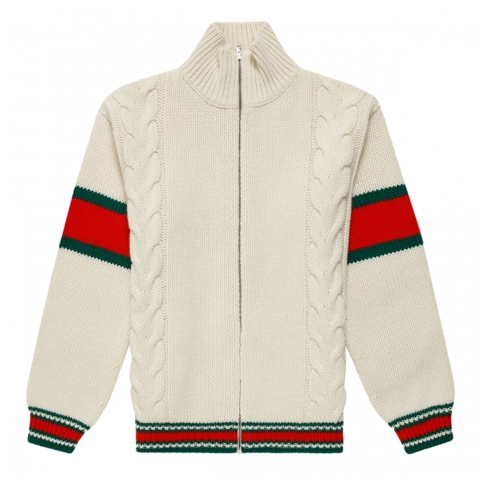 GUCCI Cable knit bomber jacket 599311 1