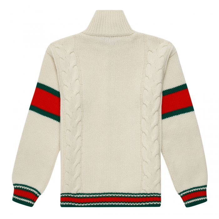 GUCCI Cable knit bomber jacket 599311 2