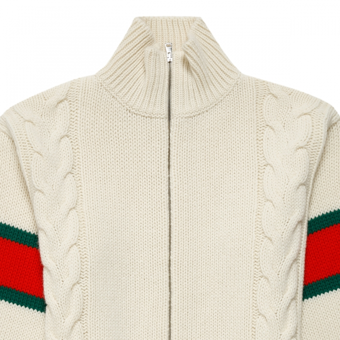 GUCCI Cable knit bomber jacket 599311 3