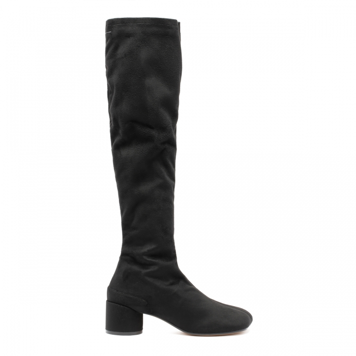 MM6 Black Suede Boots S59WW0093 2