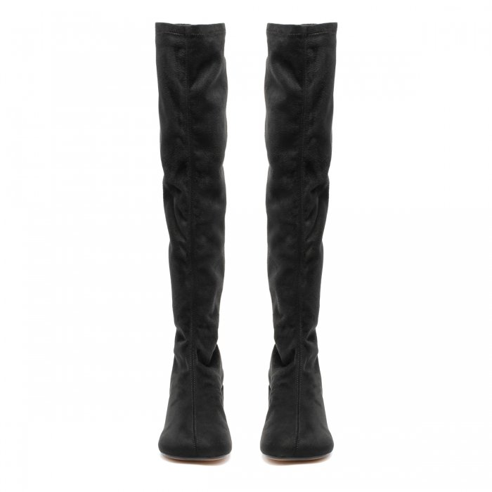 MM6 Black Suede Boots S59WW0093 3