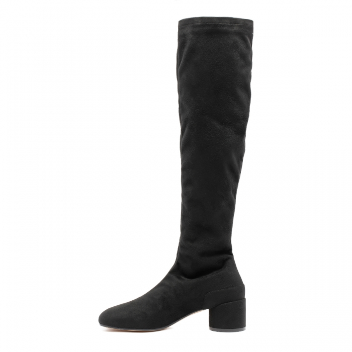 MM6 Black Suede Boots S59WW0093 4