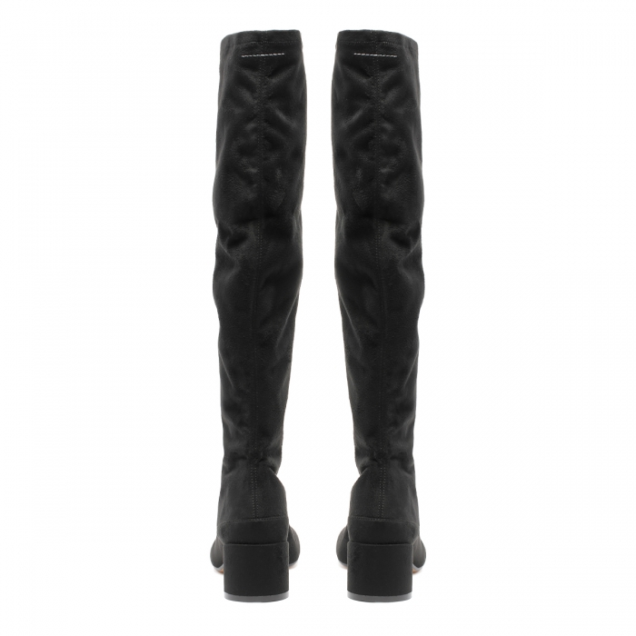 MM6 Black Suede Boots S59WW0093 5