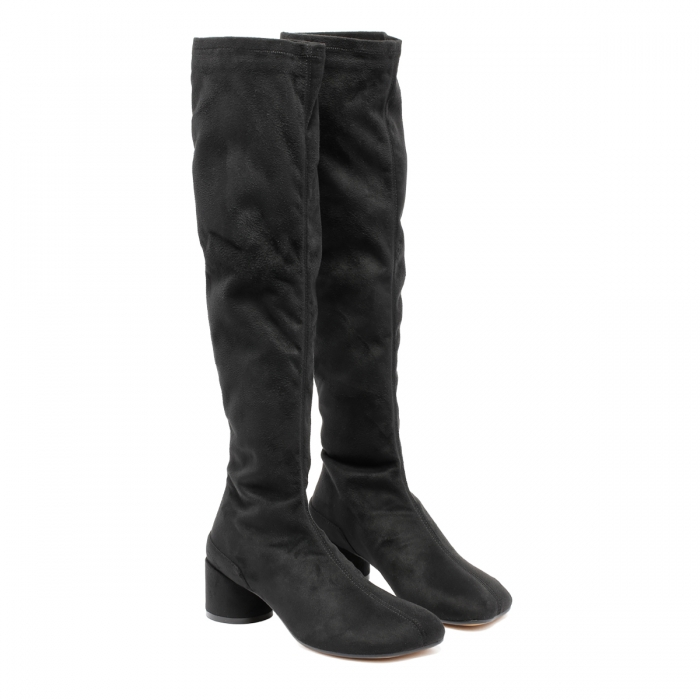 MM6 Black Suede Boots S59WW0093 6