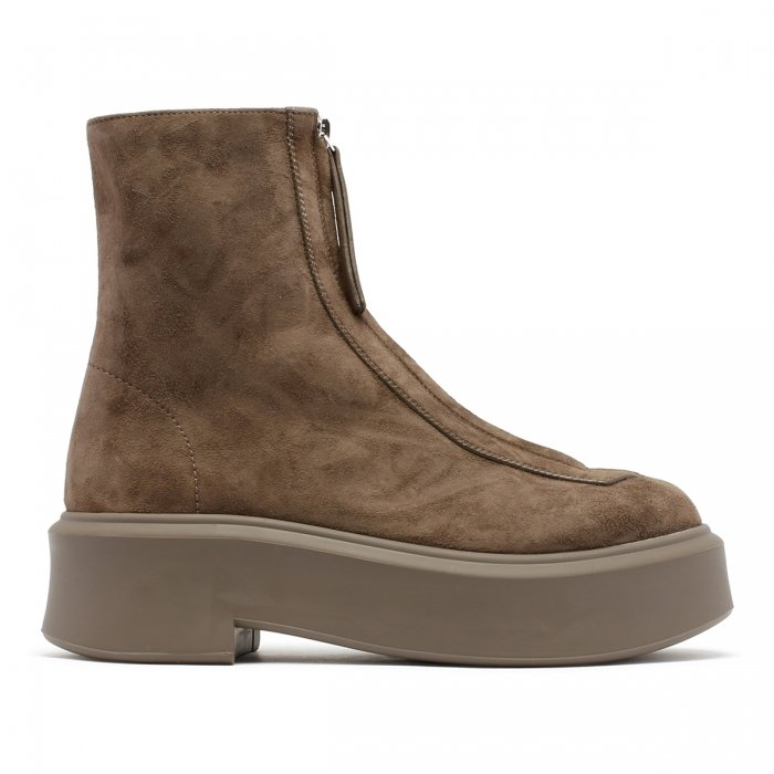 THE ROW Ash Suede Leather Zipped Boots F1144 2
