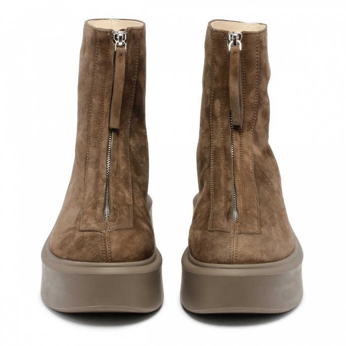 THE ROW Ash Suede Leather Zipped Boots F1144 3