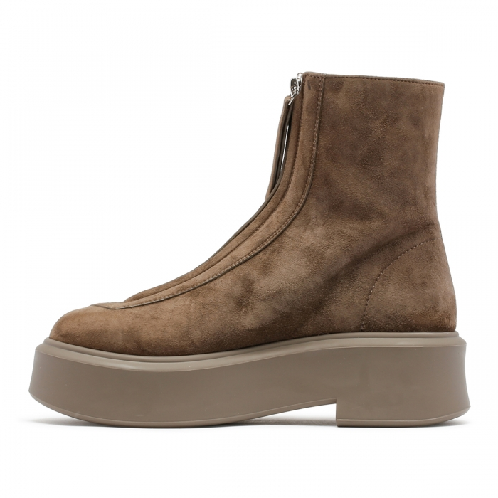 THE ROW Ash Suede Leather Zipped Boots F1144 4
