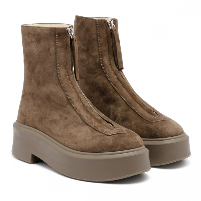 THE ROW Ash Suede Leather Zipped Boots F1144 6