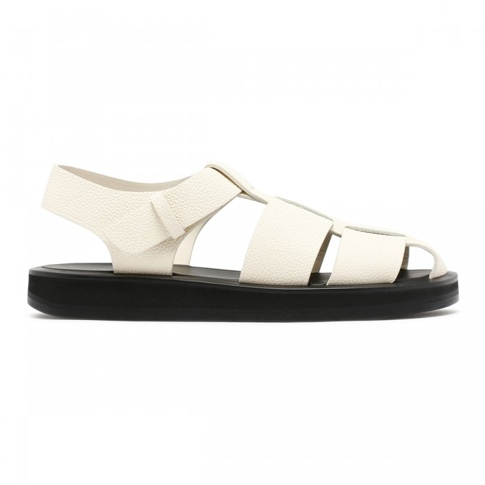 THE ROW Fisherman Ivory Sandals F1203 2