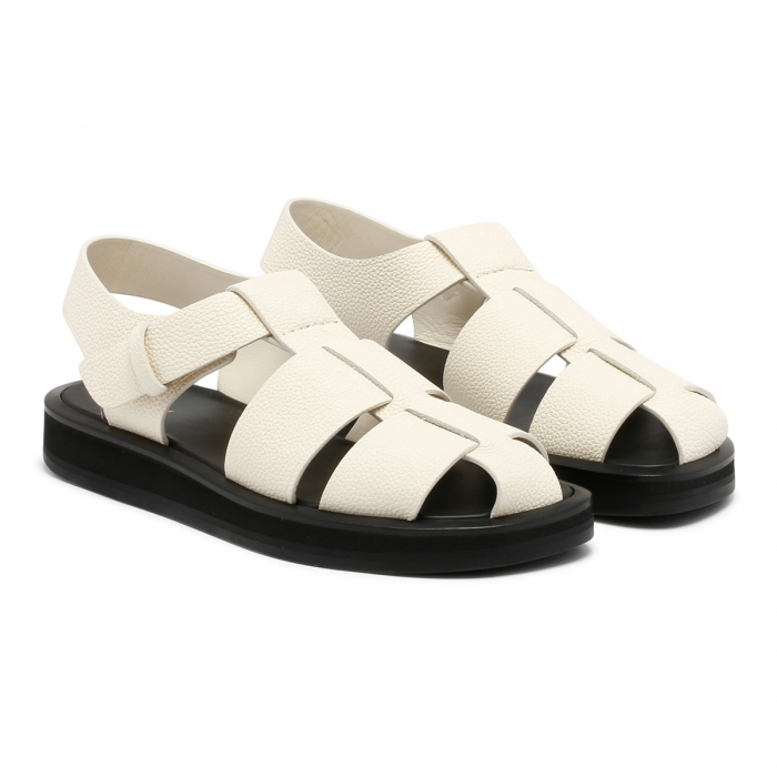 THE ROW Fisherman Ivory Sandals F1203 6