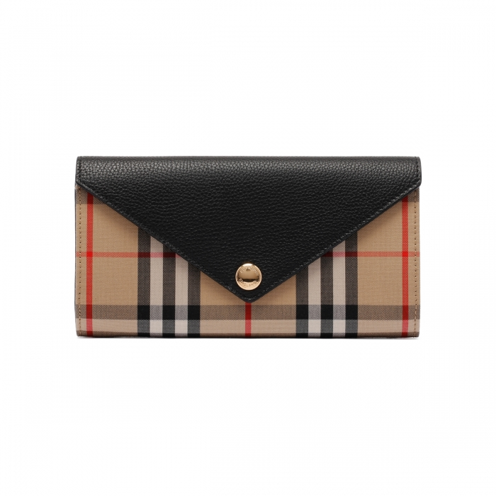 BURBERRY Large Check Continental Wallet 8026108 2