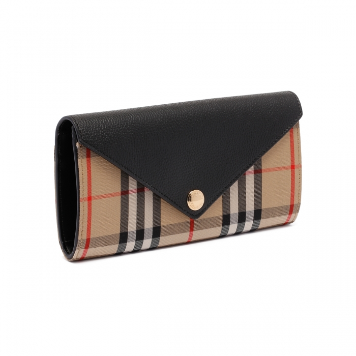 BURBERRY Large Check Continental Wallet 8026108 3
