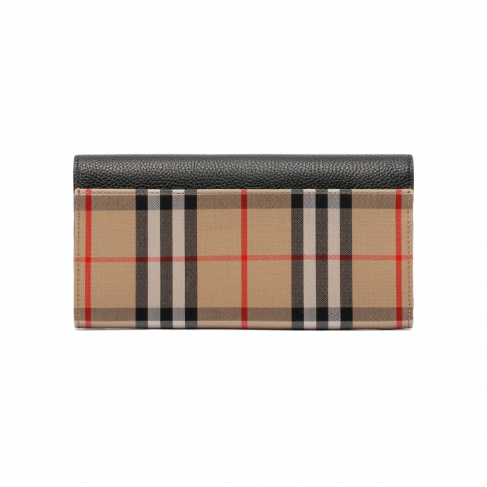 BURBERRY Large Check Continental Wallet 8026108 4