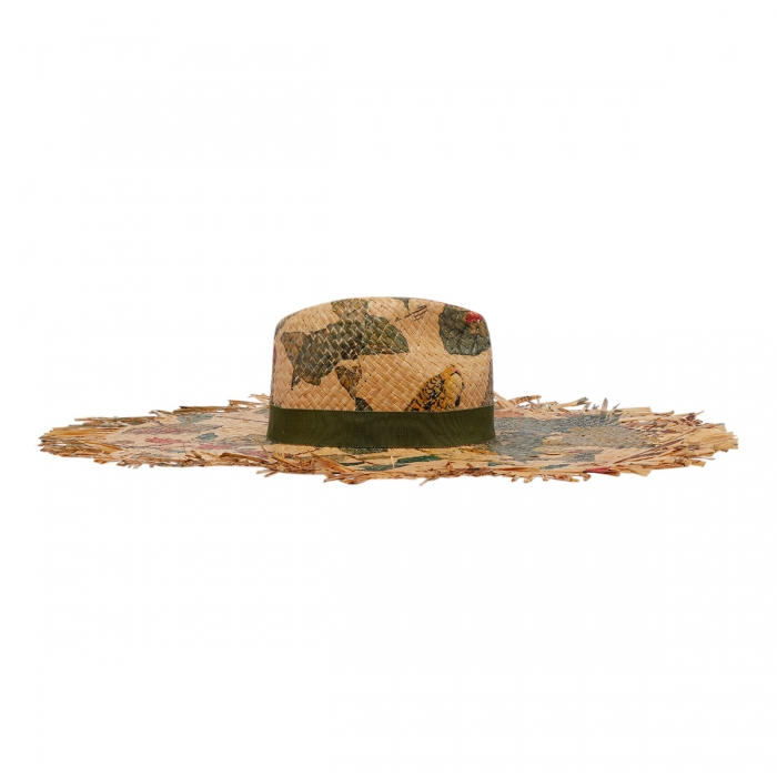 ETRO Tigers And Water Lilies Hat 12036 3