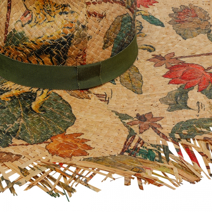 ETRO Tigers And Water Lilies Hat 12036 4