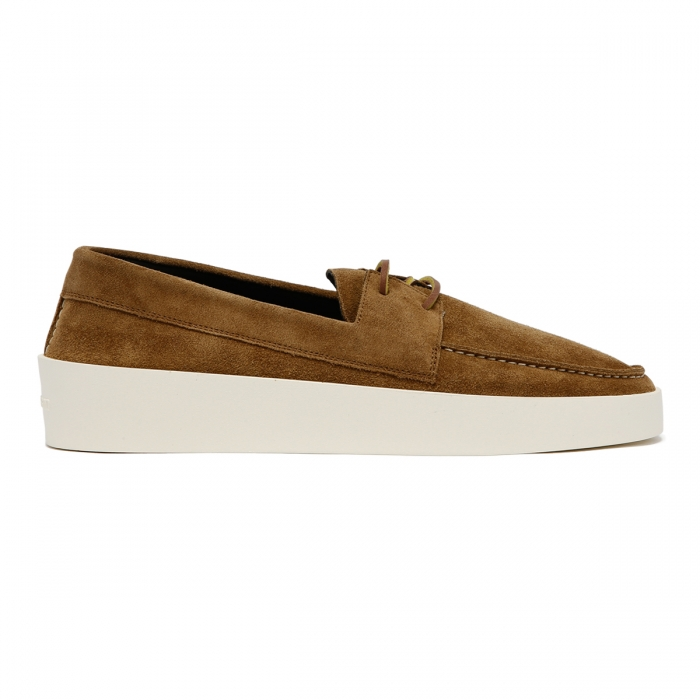 FEAR OF GOD Brown Suede Boat Sneakers FG80-009SUE 2