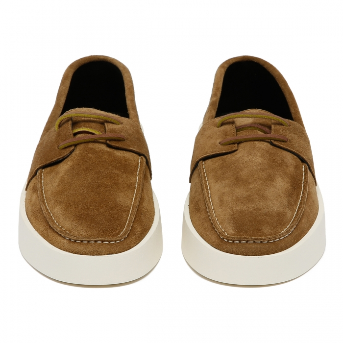 FEAR OF GOD Brown Suede Boat Sneakers FG80-009SUE 3