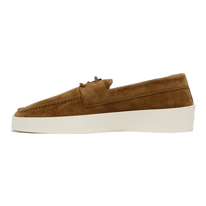 FEAR OF GOD Brown Suede Boat Sneakers FG80-009SUE 4