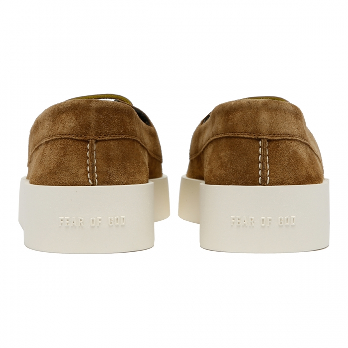 FEAR OF GOD Brown Suede Boat Sneakers FG80-009SUE 5
